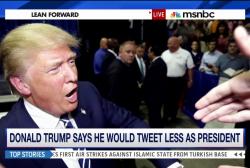 Would Trump tweet less as president?
