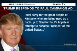 Donald Trump takes on Sen. Rand Paul