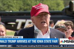 Trump arrives at the Iowa State Fair