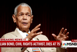 Civil rights activist Julian Bond dies at 75