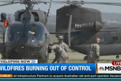 Active-duty military helping wildfire fight