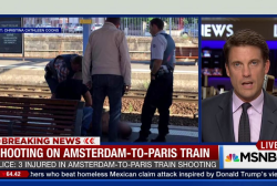 Shooting on Amsterdam-to-Paris train