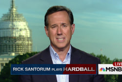 Rick Santorum plays Hardball