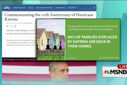 Addressing the Katrina 'victory lap'
