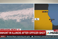 Manhunt in Illinois after officer shot