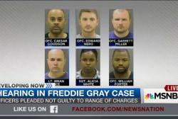 First hearing in Freddie Gray case