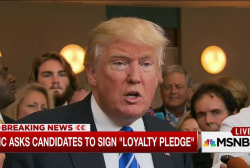 Trump, RNC meet with loyalty pledge backdrop