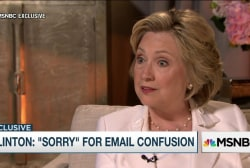 Hillary Clinton: 'Sorry' for email confusion