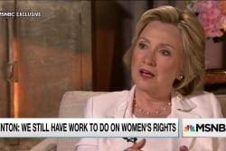 Clinton assesses progress on women's rights