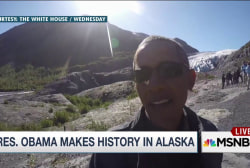 Obama racks up presidential firsts in Alaska