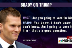 Would Tom Brady vote for Donald Trump?