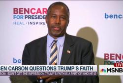 Ben Carson takes a swipe at Trump on religion