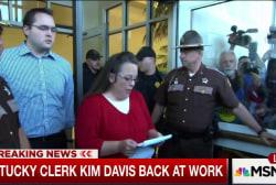 Kentucky clerk Kim Davis back at work