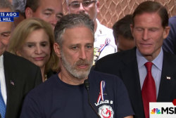Jon Stewart lobbies Congress for 9/11...