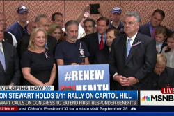 Jon Stewart holds 9/11 rally