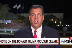 Christie: I'm not frustrated by the debate