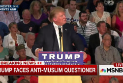 Trump faces anti-Muslim questioner