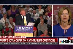 Trump Iowa chair on anti-Muslim questions