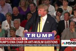 Trump faces 2 Muslim training camp questions