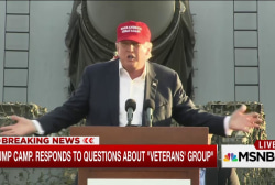 Trump campaign responds on sketchy vets group