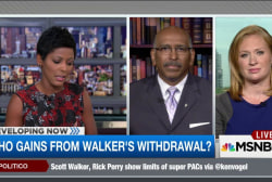 Who gains from Walker's withdrawal?