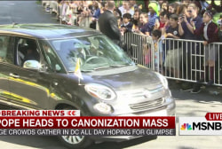 Pope heads to canonization mass