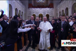 Pope arrives at National Basilica