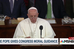 The Pope gets political with Congress
