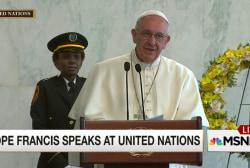 Pope Francis addresses the UN staff