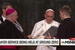 Francis speaks at Ground Zero prayer service
