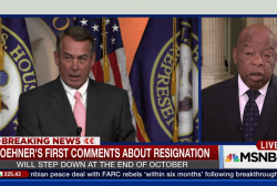 Rep. John Lewis discusses John Boehner