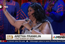 Aretha Franklin discusses Pope Francis