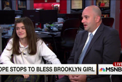 Pope Francis stops to bless Brooklyn girl