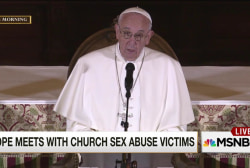 Pope meets with church sex abuse victims