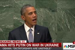 Obama hits Putin on War in Ukraine