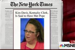 'I would be disappointed' if pope met Kim...