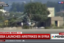 Russia conducts first air strikes in Syria