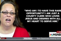 Kentucky clerk Kim Davis meets with Pope...