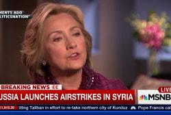 Clinton responds to Syrian airstrikes