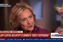 Clinton: 'I find them deeply distressing'
