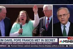 The Pope, Kim Davis, and the secret meeting