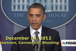 Obama's responses to mass shootings
