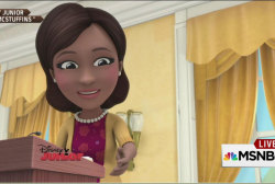 Michelle Obama gets animated on Doc...