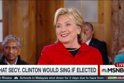 What song will Clinton sing if elected?