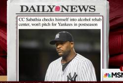 Major sports player checks into rehab