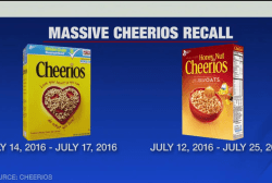 Cheerios recalls 1.8 million boxes of cereal