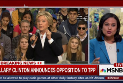 Clinton announces opposition to TPP