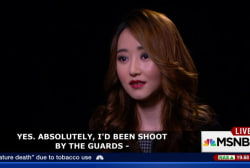 North Korean details escaping her own country