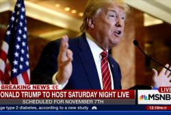 Trump set to host Saturday Night Live