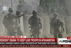 Obama to keep 5,500 troops in Afghanistan